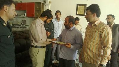 دیدارفرمانده سپاه کوهدشت با رشید آزادبخت ، جانبازکوهدشتی