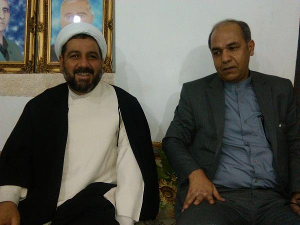 عیادت مدیرکل ارشاد کردستان و رییس ارشاد کامیاران از احمدعلی جوزی پور