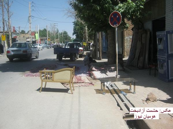 شهرداران کوهدشت مغلوب سد معبر / وقتی پیادهرو محل کاسبی میشود؛عابران به خیابانها نقل مکان کردند