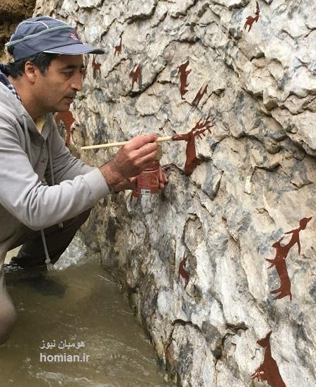 « برای نیاکان » در پل خدای شیرز اجرا شد / اثر محیطی ماندگار دوهنرمند کوهدشتی