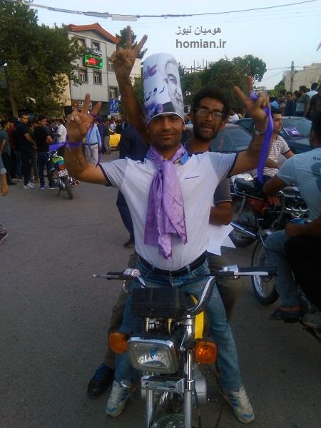 تصاویر شادی مردم کوهدشت پس از پیروزی در انتخابات