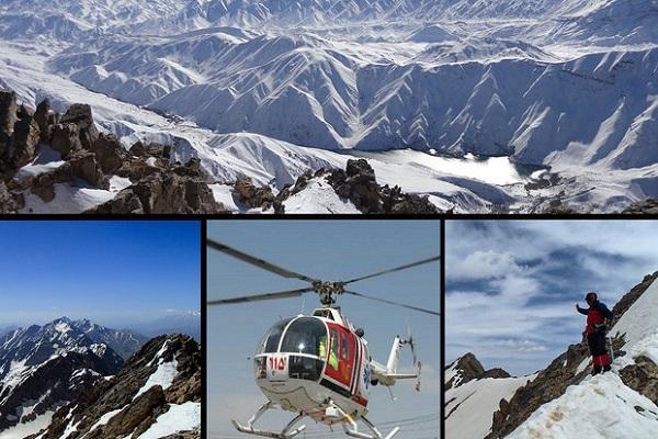 مفقود شدن ۷کوهنورد مشهدی زیر برف های اشتران کوه/ ۲نفر جان باختند/ توقف موقت عملیات جستجو